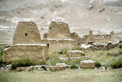 Kyrgyz tombs at Lake Bulun Kul between Tashkurgan and Kashgar
