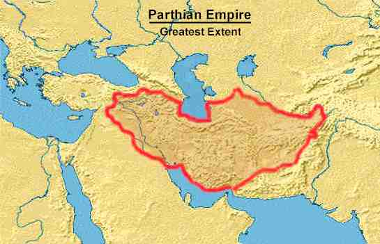 Map of Parthia at its Greatest Extent